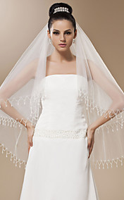 One-tier Tulle Fingertip Length Veil (More Colors)