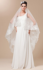 One-tier Tulle With Embroidery Chapel Length Wedding Veil