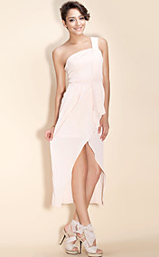 TS One-shoulder Slit Long Dress