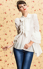 TS VINTAGE Royal Wave Hem Flare Sleeve Shirt