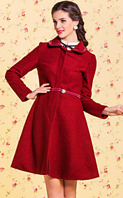 TS VINTAGE Lapel Self Belted Swing Tweed Coat