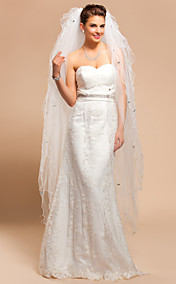 Ten-tier Waltz Wedding Veil With Scalloped Edge