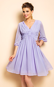 TS VINTAGE Backless PUFFÄRMELN Swing Dress
