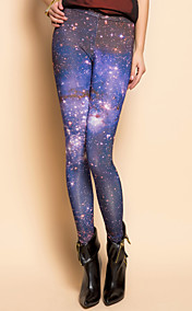TS Star Print Asymmetrical Leggings