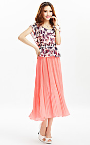 TS Print Pleats Midi Dress