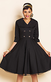 TS VINTAGE Wespentaille Swing-Kleid