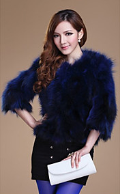 3/4 Sleeve Collarless Raccoon Fur Casual/Party Jacket(More Colors)