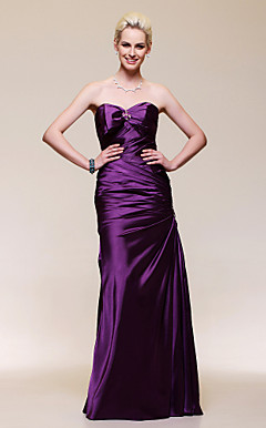 Trumpet/Mermaid Sweetheart Floor-length Charmeuse Evening Dress
