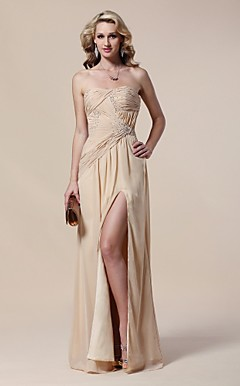 Chiffon Sheath/ Column Floor-length Evening Dress inspired by Rosie Huntington-Whiteley at the 83rd Oscar