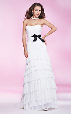 Chiffon Trumpet Sweetheart Sweep/Brush Train Evening Dress inspired by Bianca Balti at Cannes Film Festival