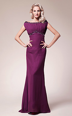 Trumpet/Mermaid Scoop Floor-length Chiffon Mother of the Bride Dress