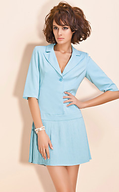TS Pleated Skirt Suit Dress