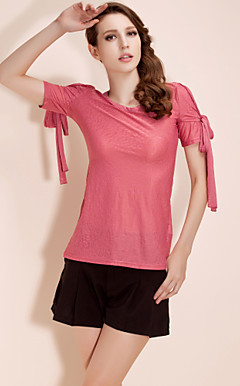 TS Tied Sleeve Jacquard T-shirt (More Colors)
