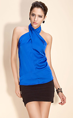 TS High Neck Halter Blouse Shirt
