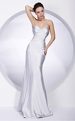 Satin Sheath/Column Sweetheart Floor-length Evening Dress