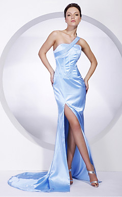 Charmeuse Trumpet/ Mermaid One Shoulder Evening Dress inspired by Cannes Film Festival