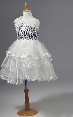 Chiffon Flower Girl Dress With Sequins