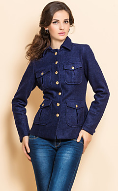 TS Military Navy Slim Tweed Jacket