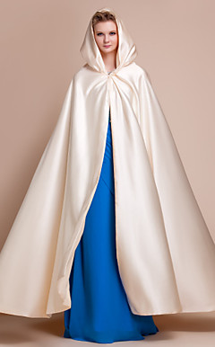 Extra Long Satin Wedding / Evening Hood / Poncho (mehr Farben)