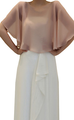 Nice Chiffon Evening/Wedding Hood/Poncho (More Colors)