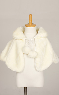 Flower Girls Faux Fur Evening Party / Wedding sjal