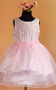 Nice Ball Gown Sleeveless Satin/Tulle Wedding/Evening Flower Girl Dress