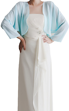 Nice 3/4 de luva do Chiffon de noite / casamento wrap / Jacket (mais cores)