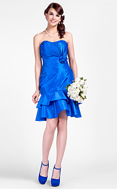 Trumpet/Mermaid Sweetheart Short/Mini Taffeta Bridesmaid Dress