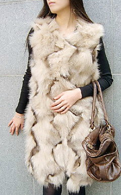 Nice Collarless Fox Fur Casual/Party Vest(More Colors)