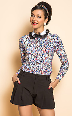 TS Print Contrast Color Shirt