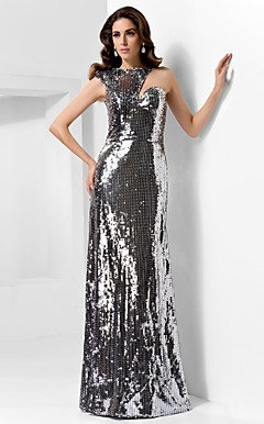 Sheath/Column One Shoulder Floor-length Sequined Evening Dress inspired by Naomi Watts at the 85th Oscar