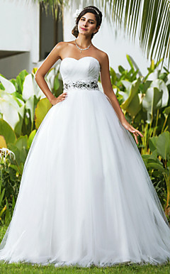 Ball Gown Sweetheart Floor-length Tulle Wedding Dress