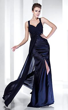 الجملة الجملة غمد / عمود الأشرطة الكلمة طول الفستان الشيفون مساء