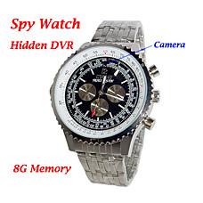 venta al por mayor 8gb moda reloj con cámara web oculta (HD)