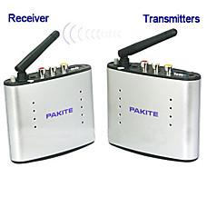 venta al por mayor 2.4GHz ISM de audio inalámbrico y receptor-transmisor de vídeo (pat-220)