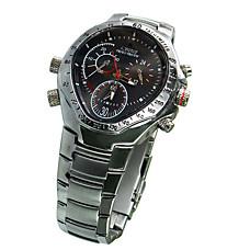 venta al por mayor 4gb reloj deportivo a prueba de agua + HD cámara oculta + caja de acero inoxidable