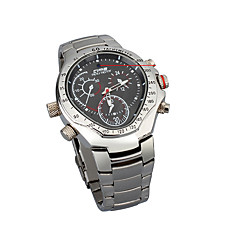 venta al por mayor Reloj de pulsera de acero inoxidable con cámara oculta hd