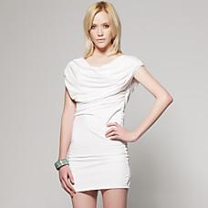 venta al por mayor ct cubierta bajo vestido de cuello blanco trasero