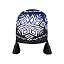 SAMII Jacquard Beanie Skull Crochet Knit Head Warp Hat-Navy(0035)(Start From 20 Units)Free Shipping