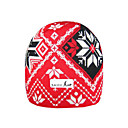 SAMII Jacquard Argyle Bibbed Hat Knit Beanie-Red + Black (0004) (Start From 20 Units)-Free Shipping