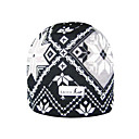 SAMII Jacquard Argyle Bibbed Hat Knit Beanie-Grey + Black (0004) (Start From 20 Units)-Free Shipping
