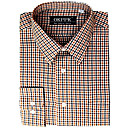 Men's Long Sleeve Solid Point Collar Gingham Dress Shirt (QRJ002) -Free Shipping by Air Mail