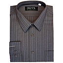 Classic Long Sleeve Stripe Dress Shirt (CHS030) -Free Shipping