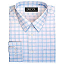 Long Sleeve Stripe Grid Dress Shirt (QRJ004-3) -Free Shipping by Air Mail