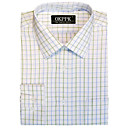 Non-Iron Cotton Fancy Dress Shirt- Spread Collar 100% Cotton (QRJ015) -Free Shipping by Air Mail