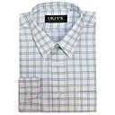 Long Sleeve Stripe Grid Dress Shirt (QRJ004) -Free Shipping by Air Mail