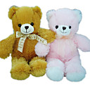 1 PC Plush Bear With Ribbon --Brown / Pink (MR042) (Start From 5 Units)-Free Shipping