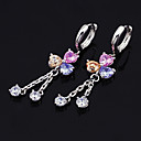 Sparkle Multi-Color CZ Dangling Earrings (SXX-0017(E))
