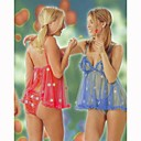 Fabulous Sexy Fabric Baby Doll & Panties (LRB2012-1PC) (Start From 5 Units)Free Shipping