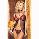Cherrry Sparkles Sheer Baby Doll and Panties / Black (LRB2046)